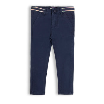 Navy Tape Pants
