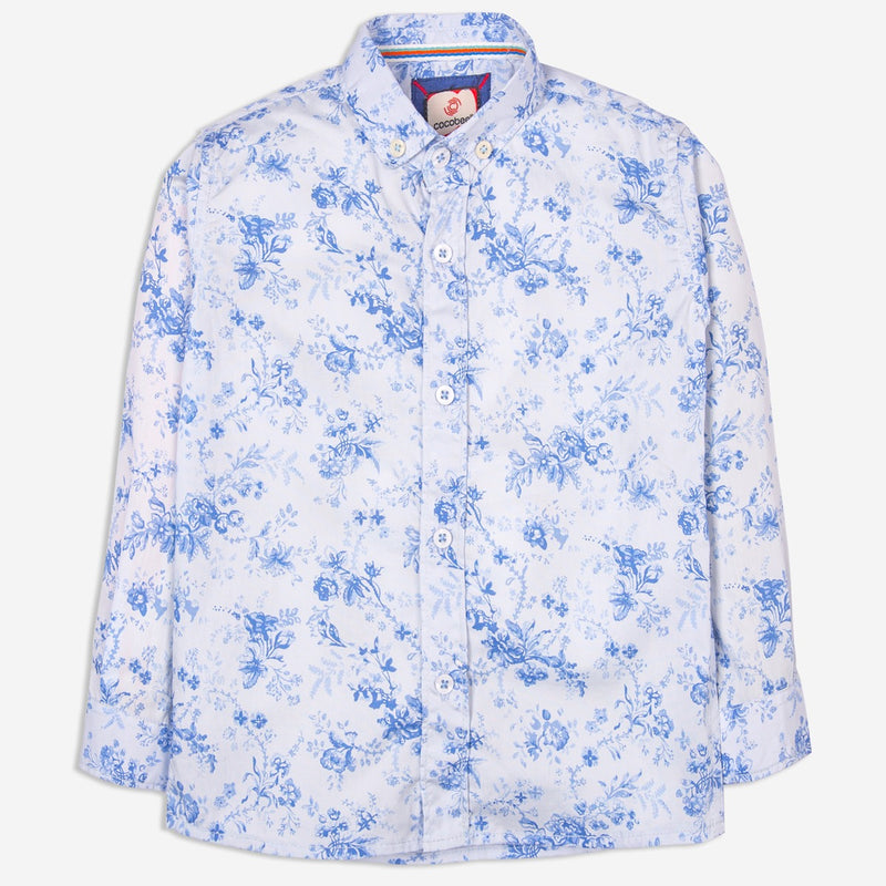 Floral White Casual Shirt