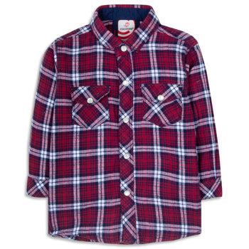 Maroon Checkered Shirt