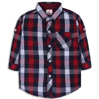 Maroon Checked Shirt