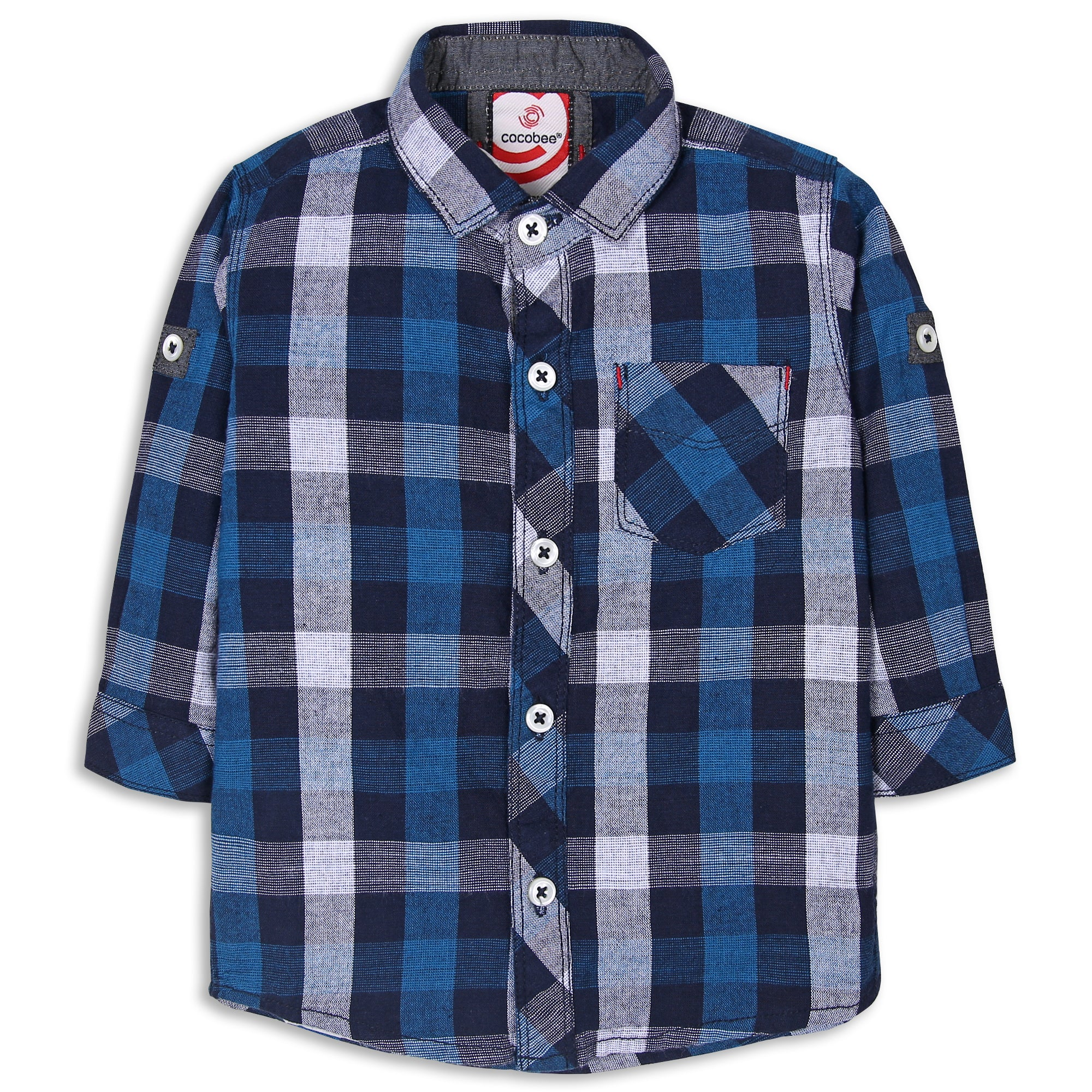 Royal Blue Checked Shirt