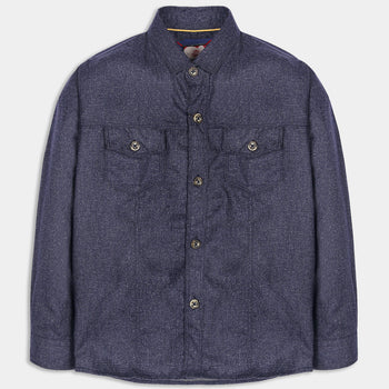 Textured Blue Shirt