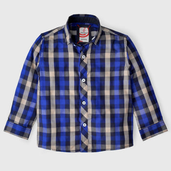 Blue Box Check Shirt