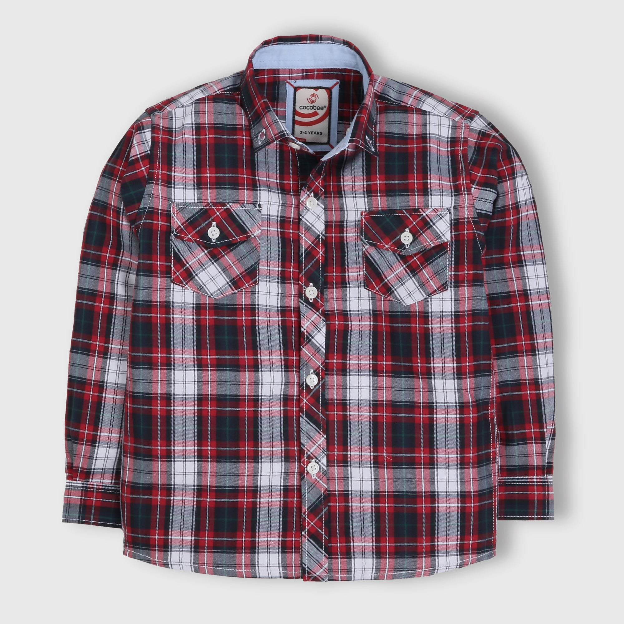 Red Formal Checker Shirt