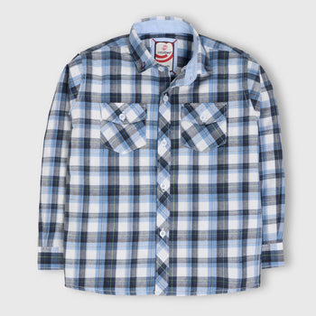 Blue Formal Checker Shirt