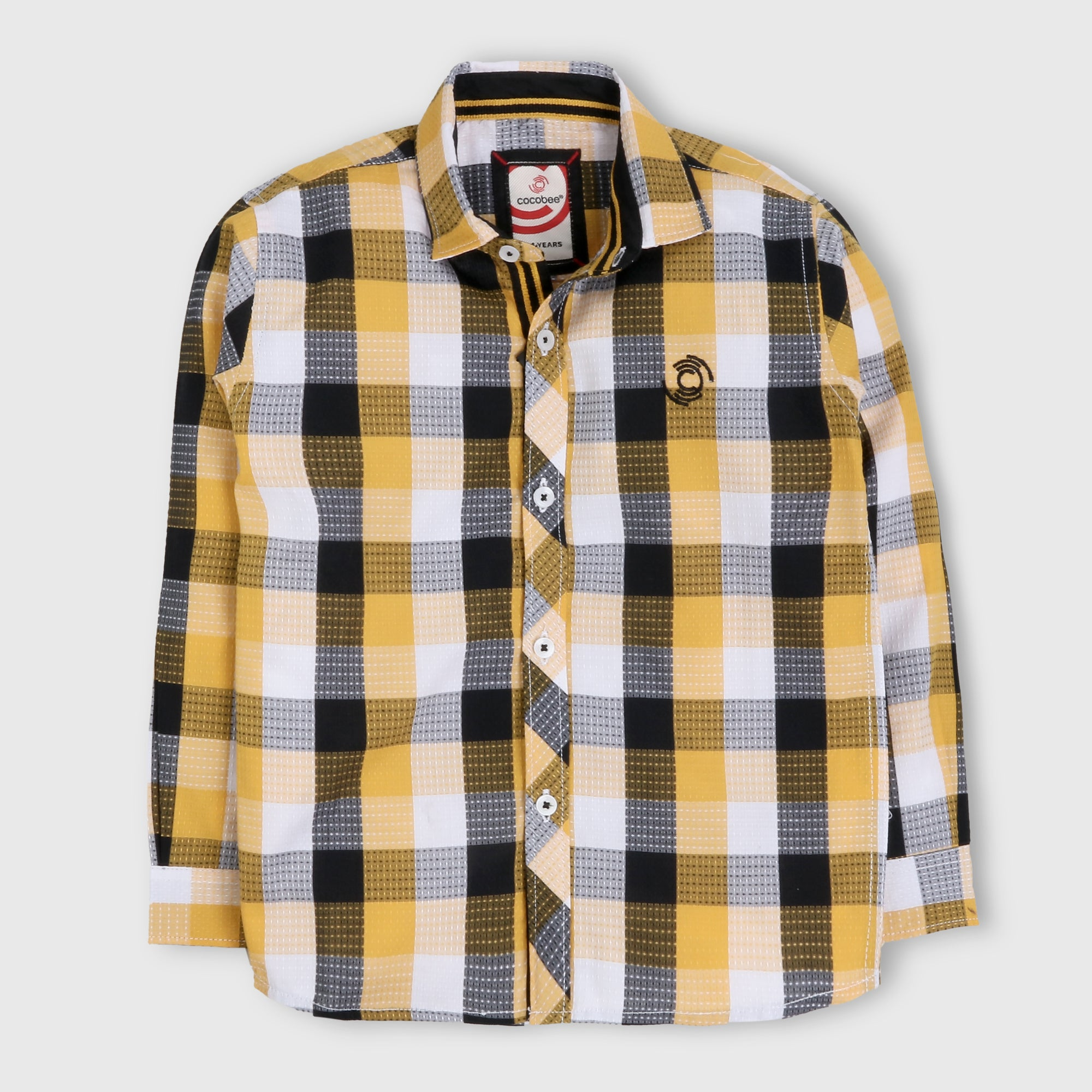 Yellow Formal Checker Shirt