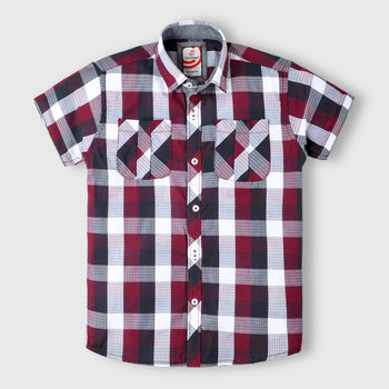 Maroon Check Shirt