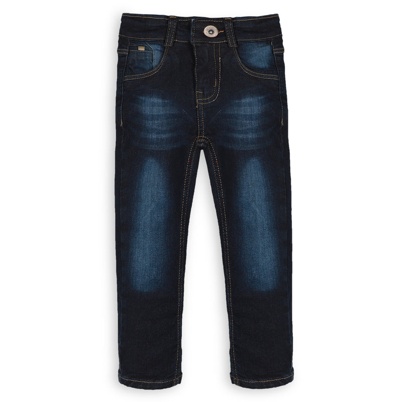 Navy Blue Denim Pants