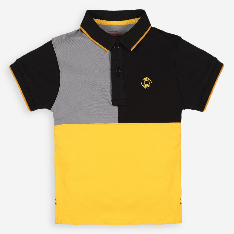 Quatered Yellow Polo