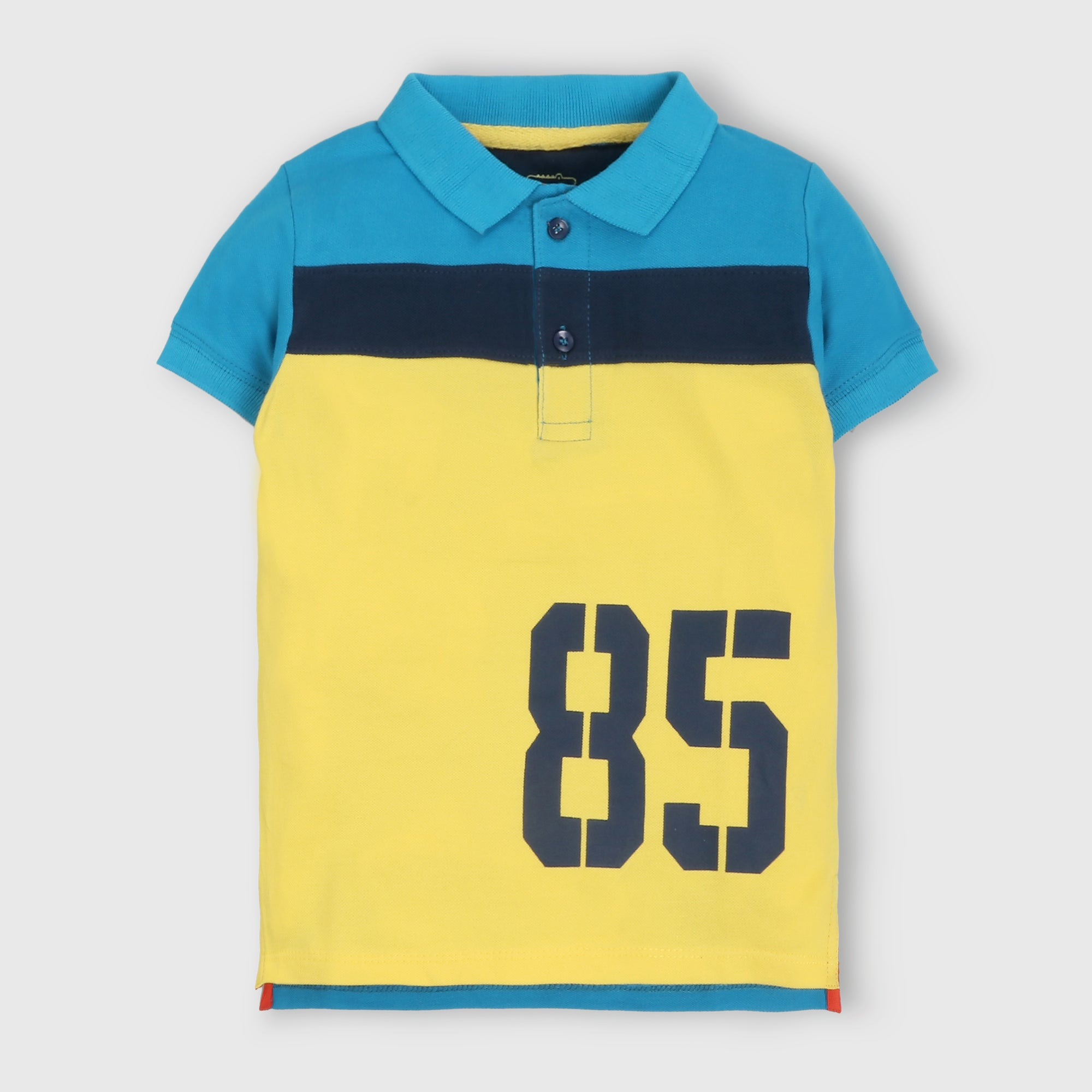 Yellow Numbered Polo