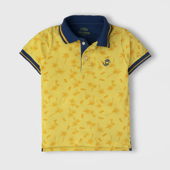 Yellow Printed Polo