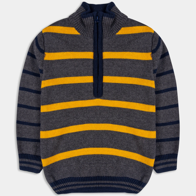 Yellow Striped Sweater