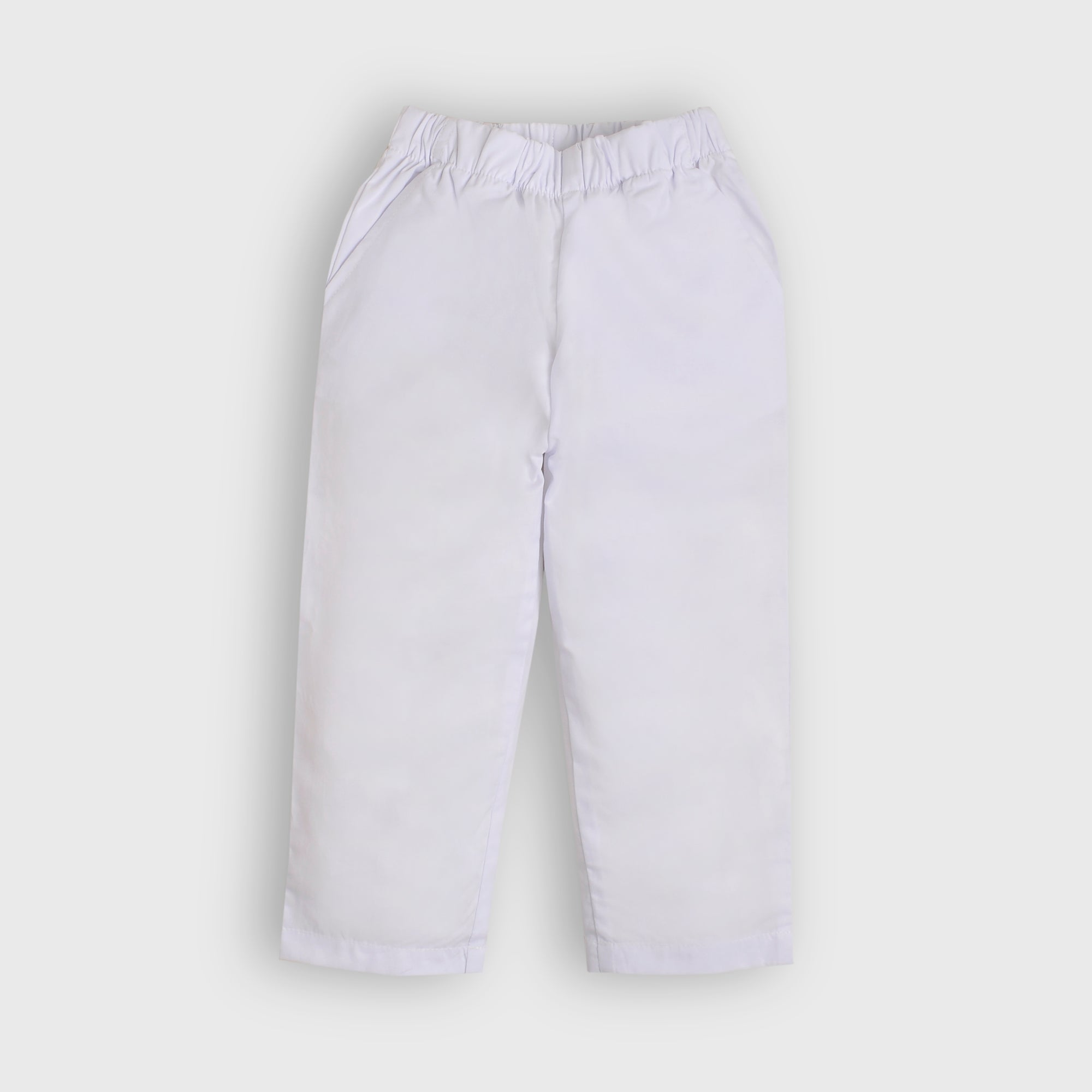 Basic White Trousers