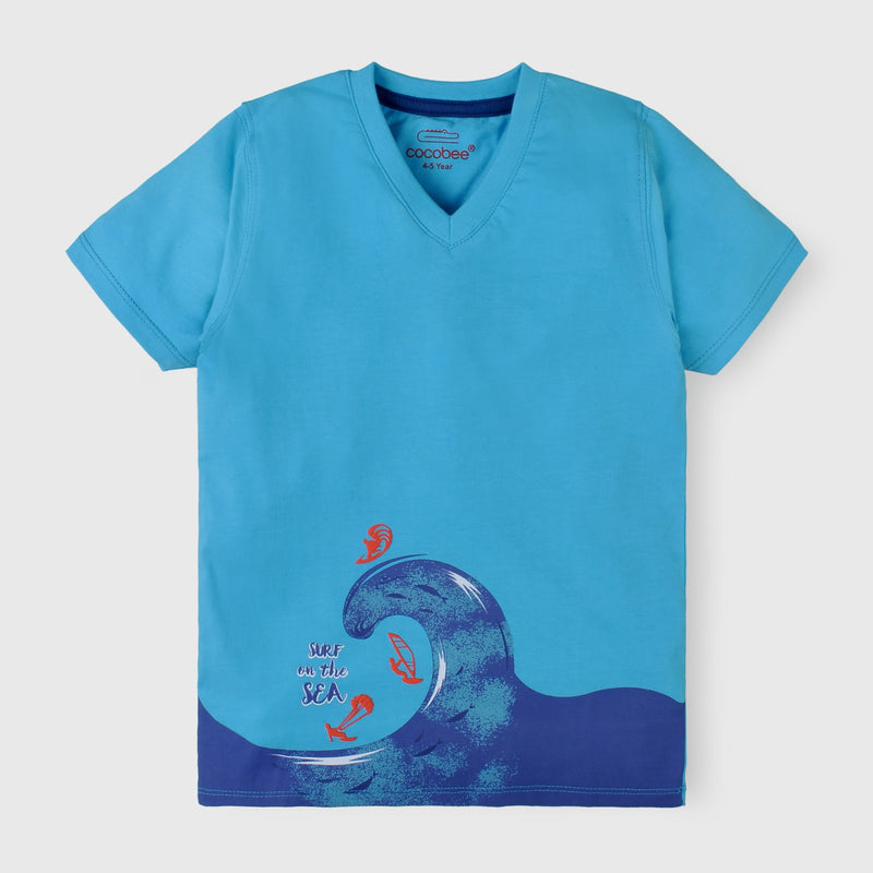 Blue Graphic Shirt