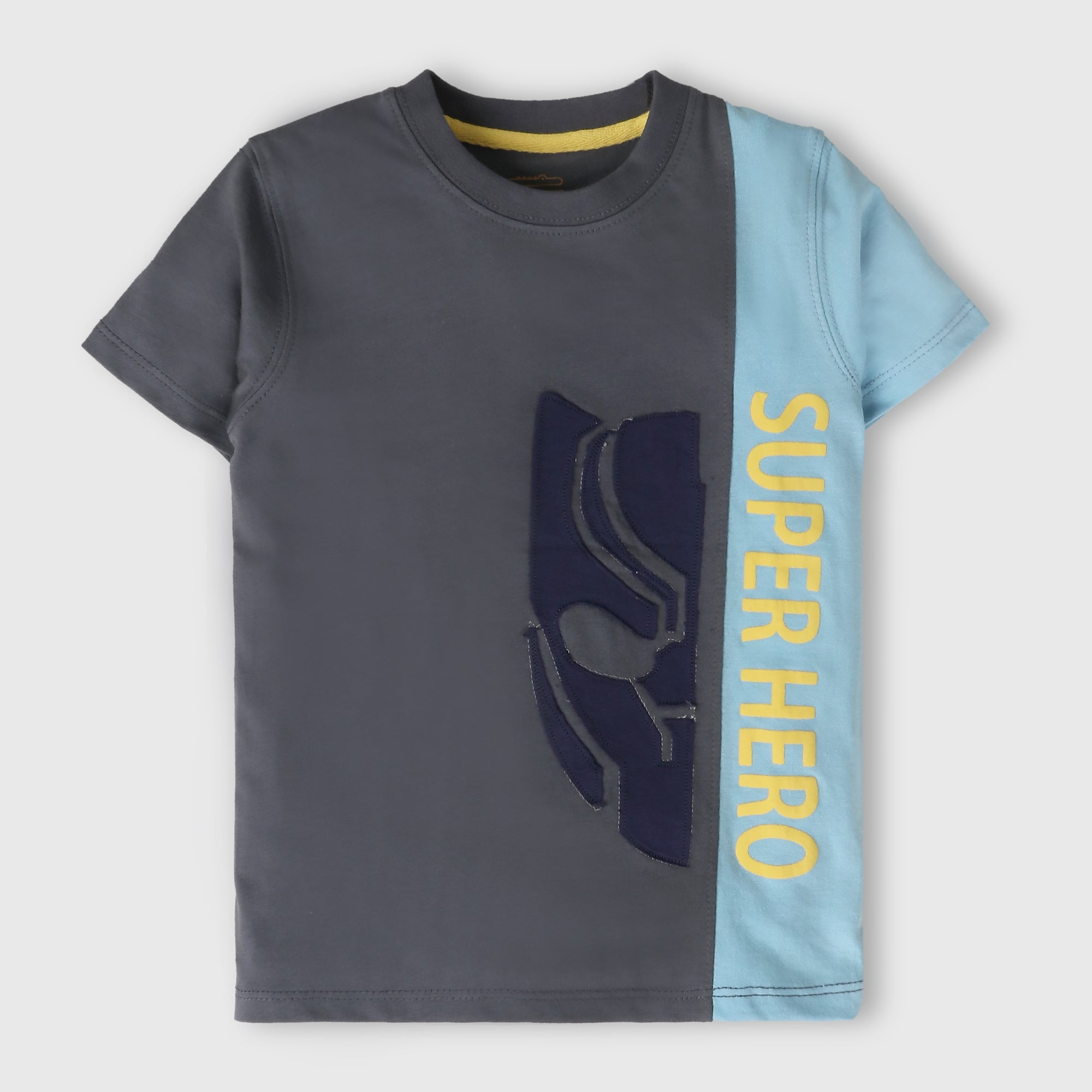 Grey Superhero T-Shirt