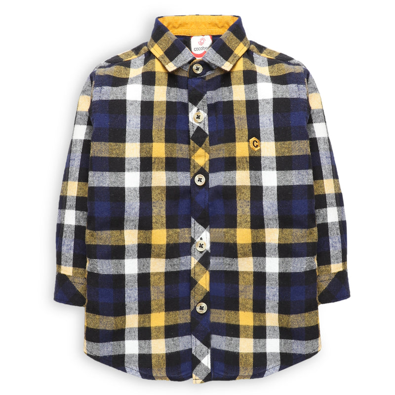 Blue and Yellow Checkered Shirt