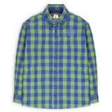 Blue  green check shirt