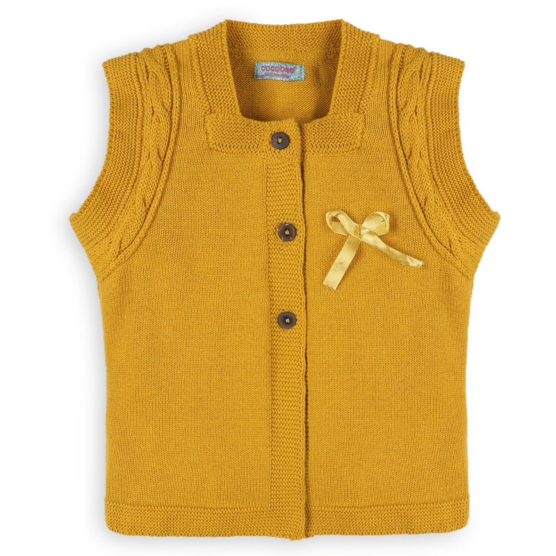 Mustard sleeveless sweater