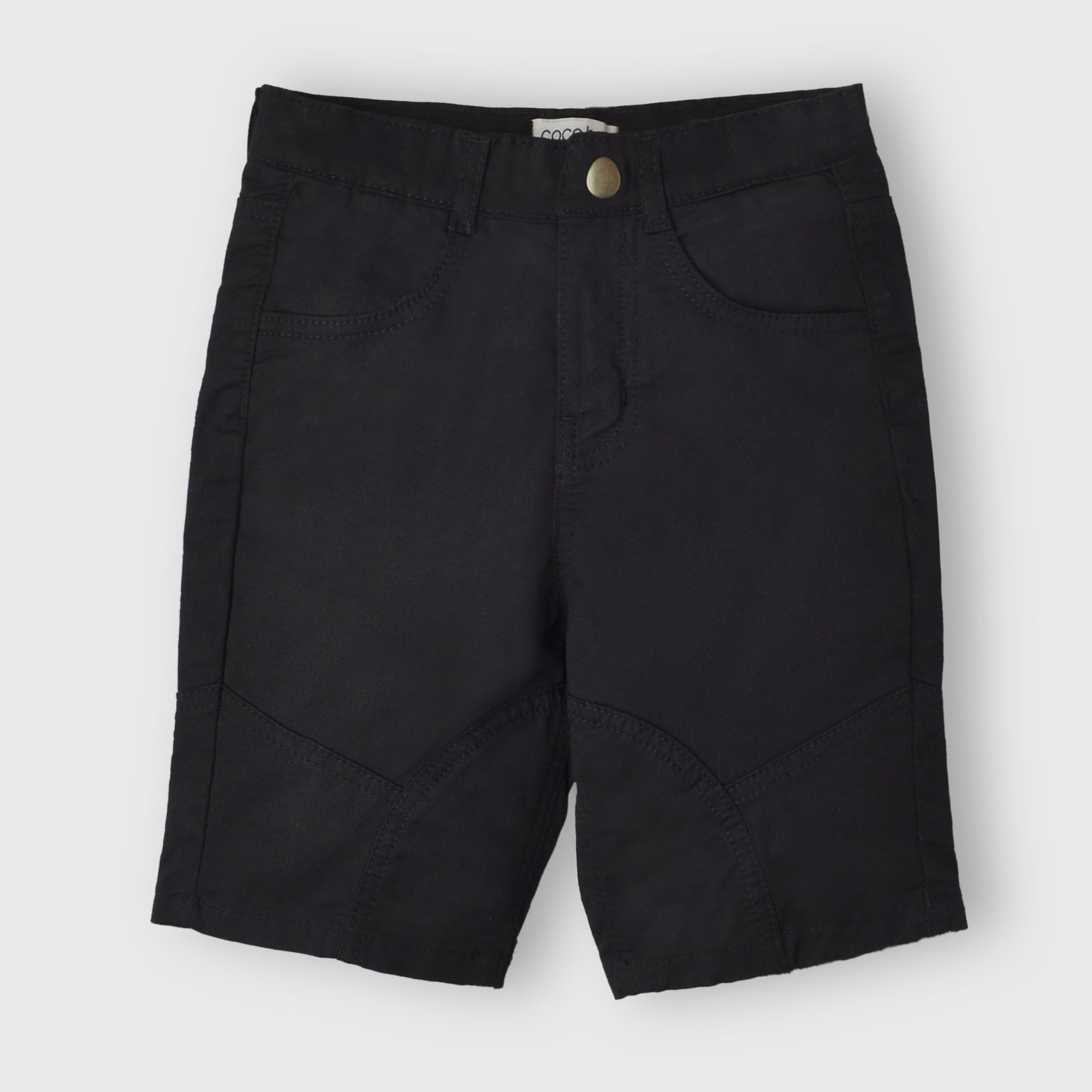 Black Cotton Short