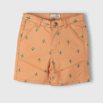 Orange Cactus Shorts