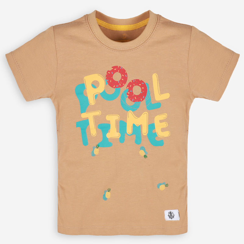 Tan Brown Pool Time Tee