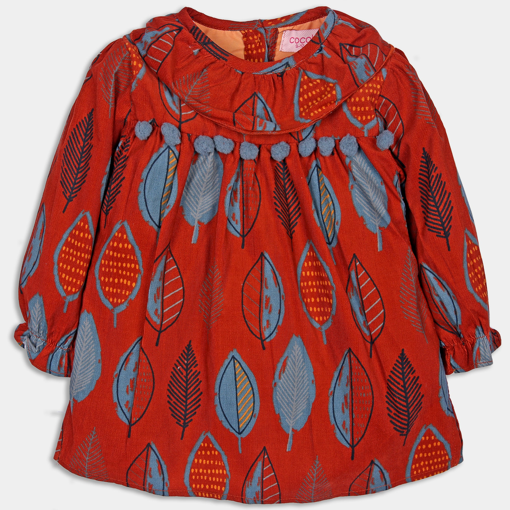 Leaf Printed Red Top