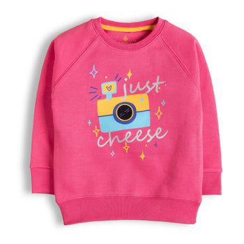 Pink Cheese Sweatshirt