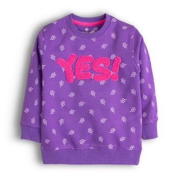 Yes Applique Sweatshirt