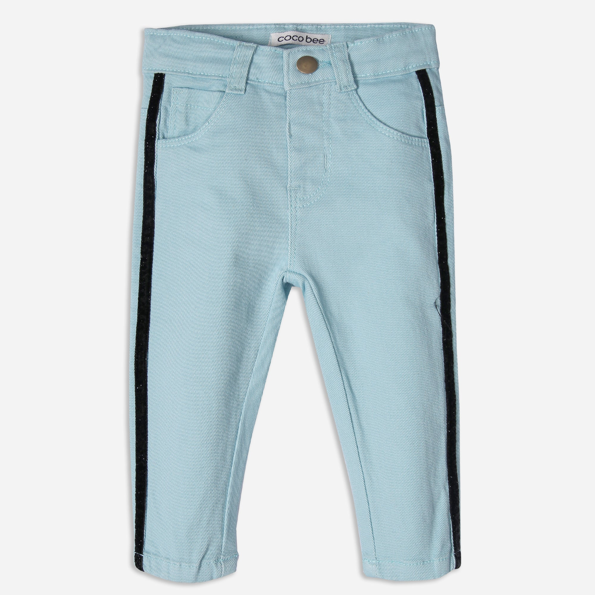 Ice Blue Striped Pants