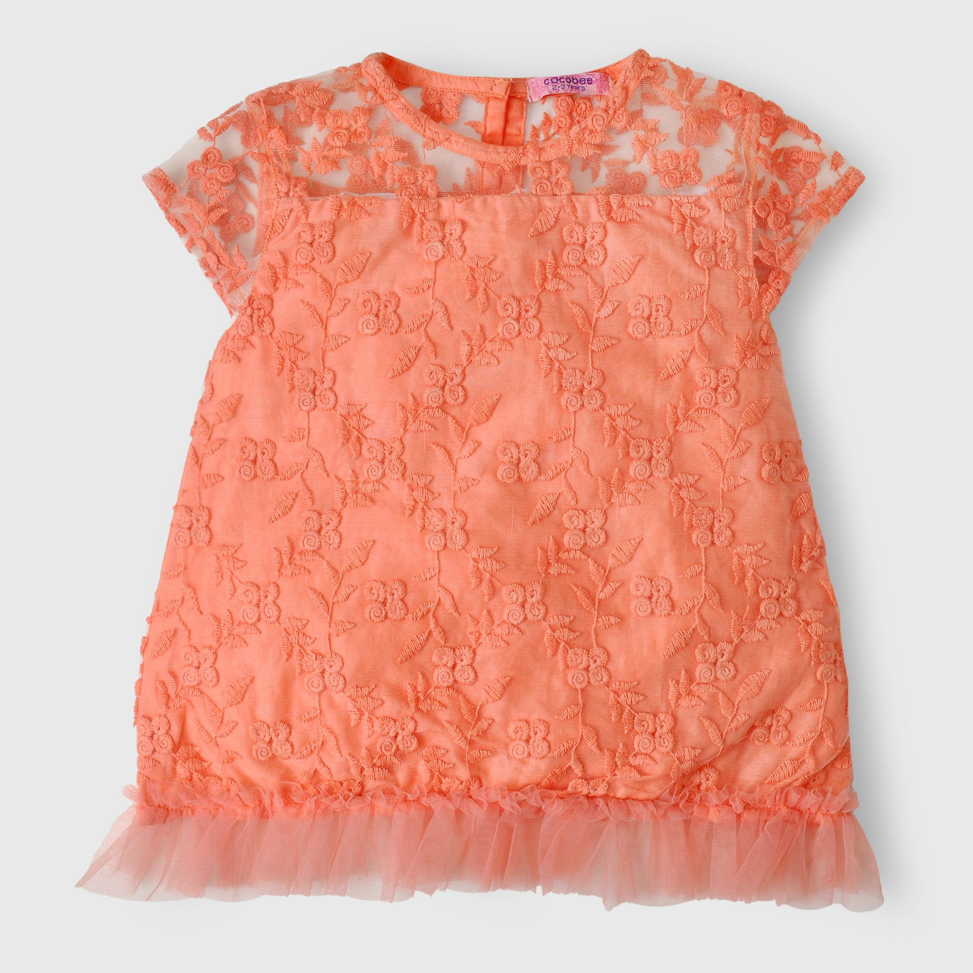 Peach Net Top