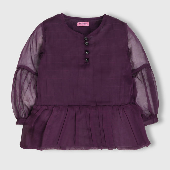 Purple Chiffon Top
