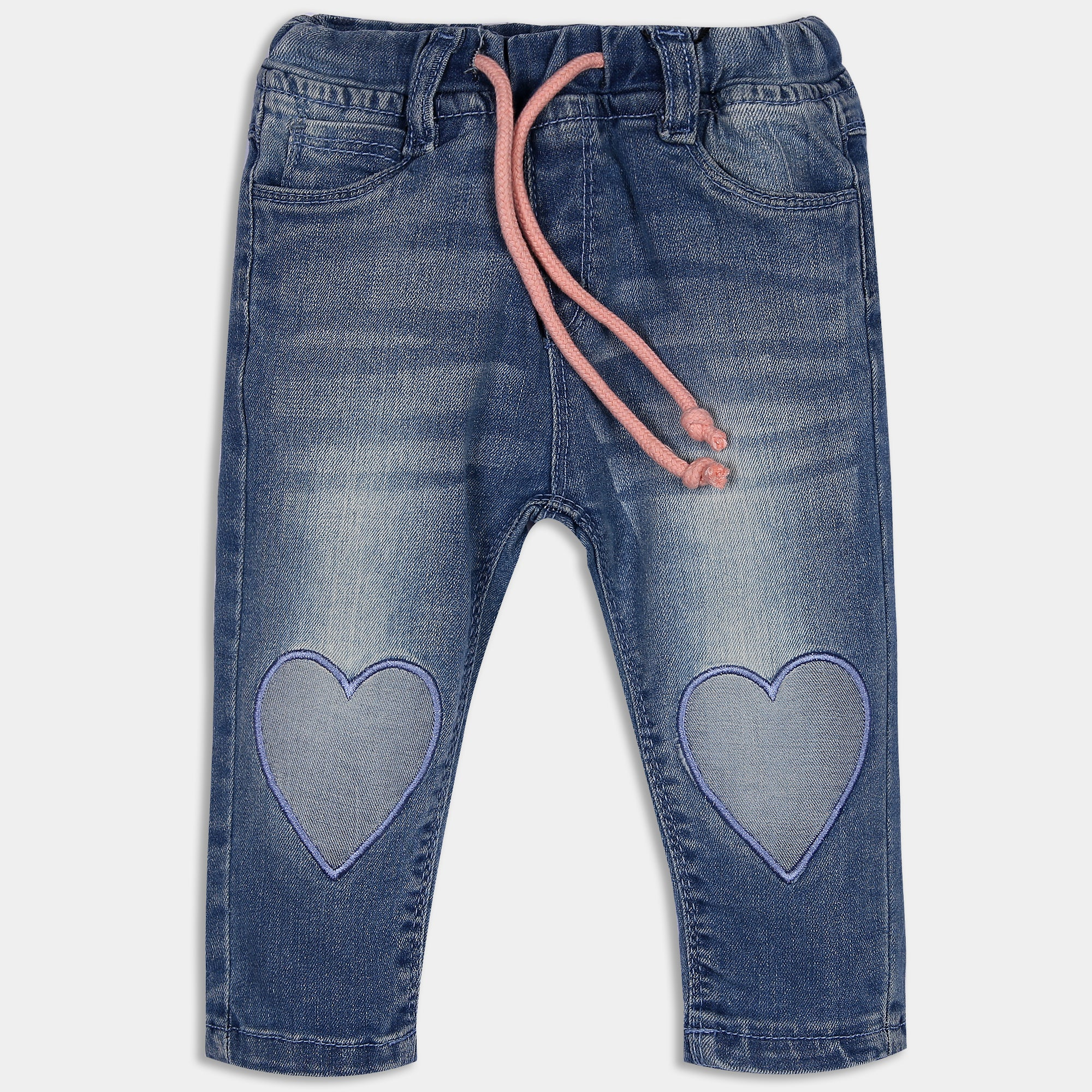 Denim Heart Pants