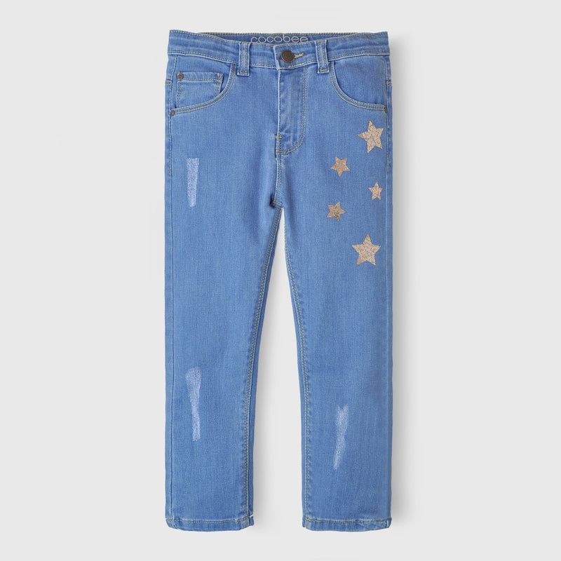 Girls Denim Sky Blue