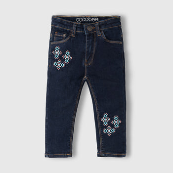 Tribal Embroidered Jeans