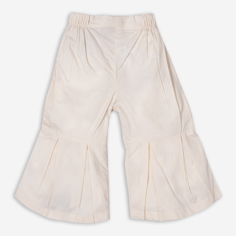 Cream Pleated Culotte