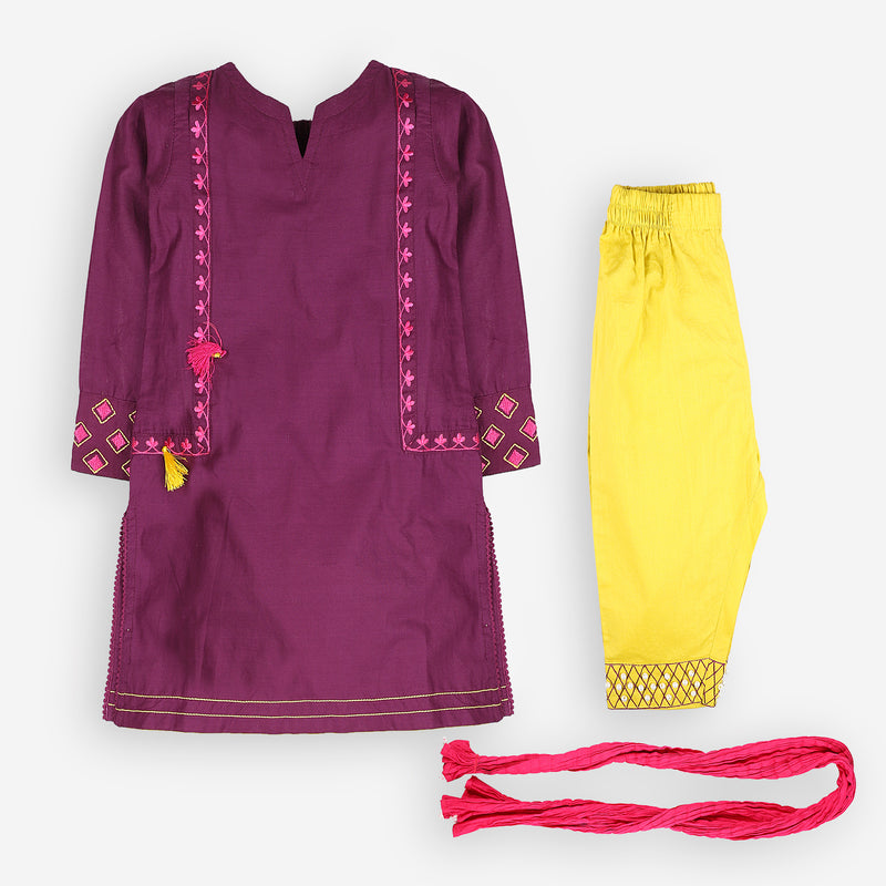 Jovial Purple Traditional Set