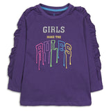 Girly Purple Graphic Shirt