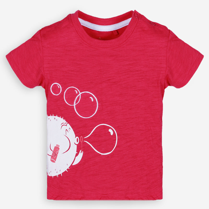 Bubble Trouble Red Tee