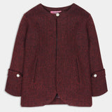 Maroon Tweed Coat