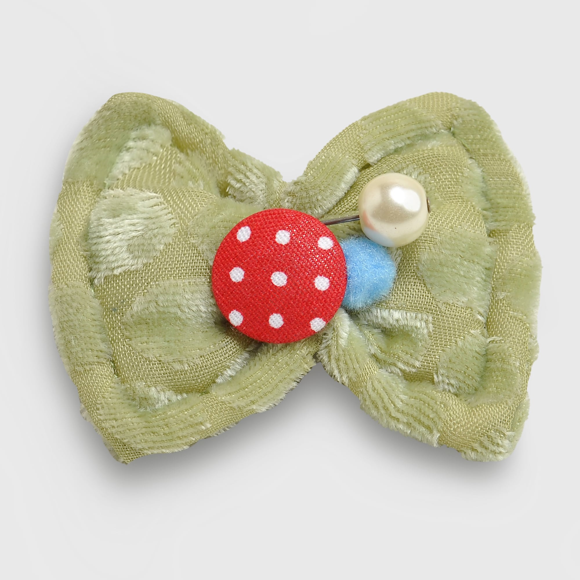Beige Bow Hairpin