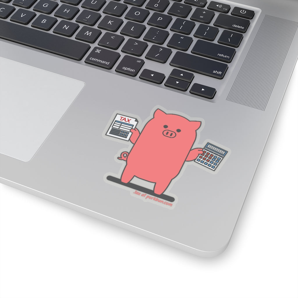 .tax Porkbun mascot sticker