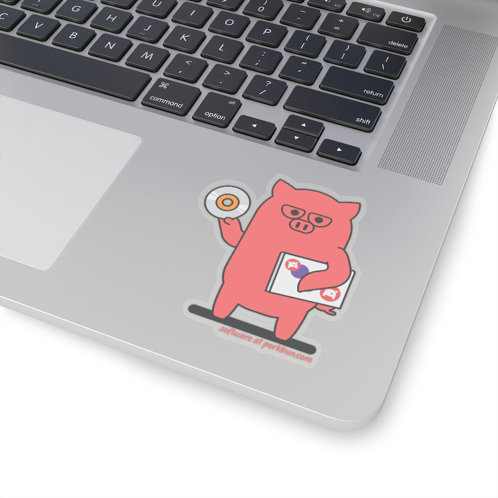 .software Porkbun mascot sticker
