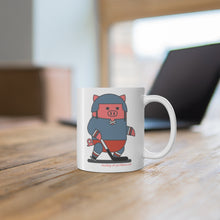 Load image into Gallery viewer, .hockey Porkbun mascot mug