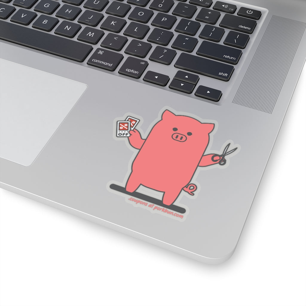 .coupons Porkbun mascot sticker