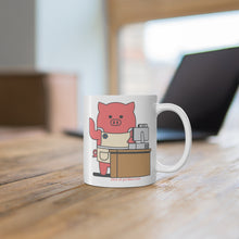 Load image into Gallery viewer, .store Porkbun mascot mug