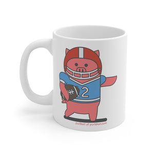 .football Porkbun mascot mug