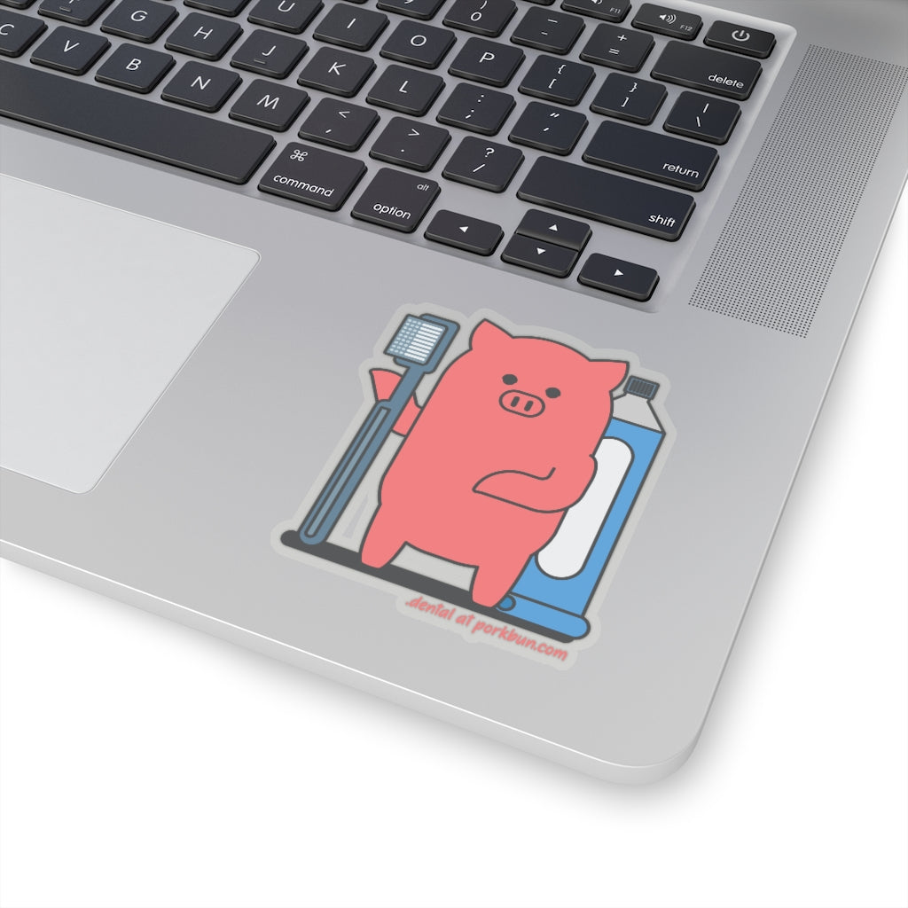 .dental Porkbun mascot sticker