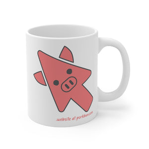 .website Porkbun mascot mug