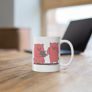 .diamonds Porkbun mascot mug