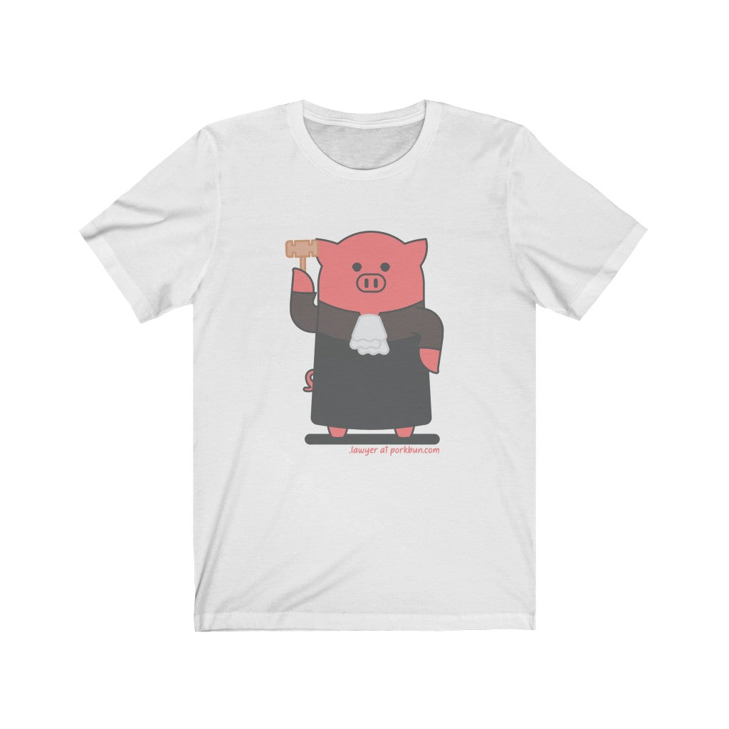 .lawyer Porkbun mascot t-shirt